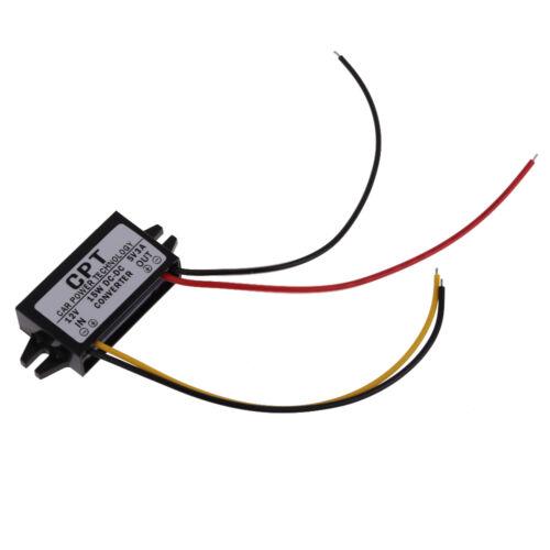 12 V DC à courant direct Convertisseur Régulateur Pour 5 V 3 A 15 W Voiture DEL Affichage d/'alimentation NEUF
