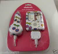 Fits Ipod Nano Case Cover Claire's Desighner Car Charger Plug Cherries Cherry
