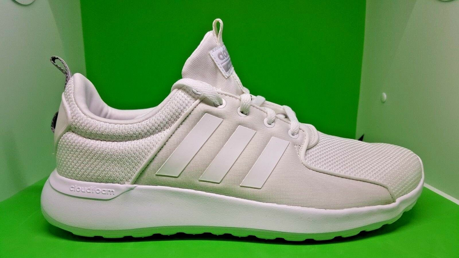 Adidas AW4262 Cloudfoam Lite Racer Running Shoes White Men's size 9