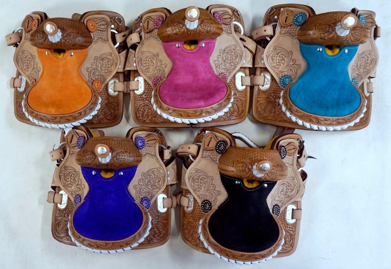 Diffusi Western Mini Pony Trail Canna Sella 10   blue black Arancione pink purple