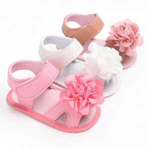 090f2b2614a4 Toddler Newborn Flower Soft Anti-slip Baby Sneakers Sandal Girl Crib ...