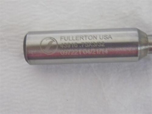 "Fullerton Keyseat Cutter 3//4/"" x 1//2/"" x 2-3//32/"" Uncoated RH #43916"