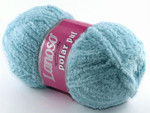 100g suave flecos lana polar puf de lanoso Amigurumi animales de peluche bebé manta