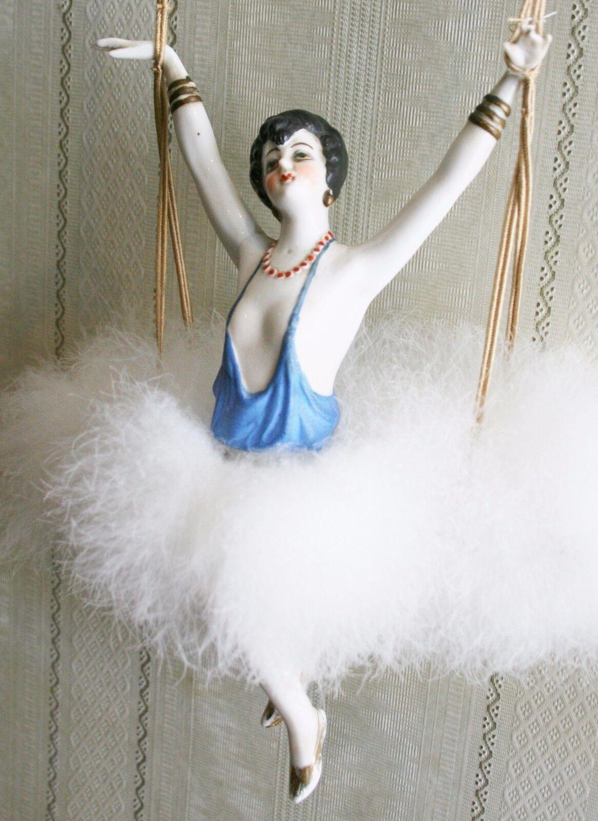Maravillosa Art Deco media Muñeca En Swing, brazos de ancho de distancia con las piernas extra