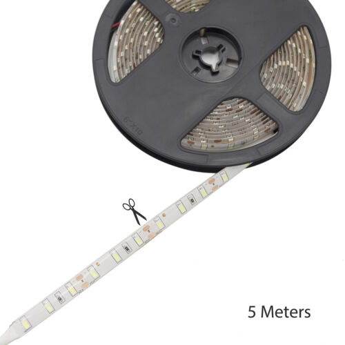 5M LED Strip Light 5630 SMD 300 LED White//Warm White 12V Waterproof Light IP65