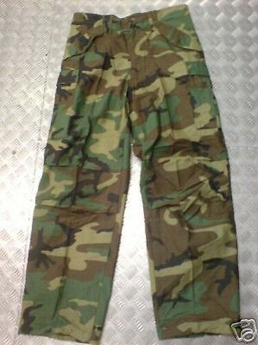 Véritable US Army M65 Pantalon Camouflage Forêt - Taille Xs Standard - Neuf