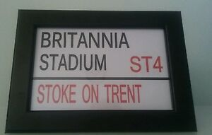 Stoke-City-F-C-Stadium-Framed-Street-Sign-Plus-quality-leather-keyring