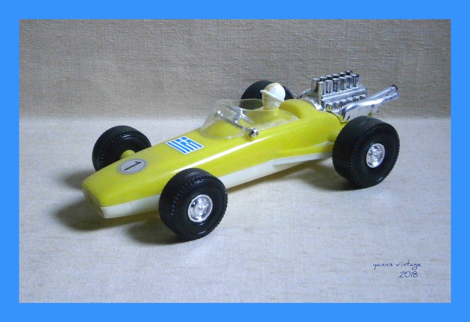 Lotus Yellow New no box MADE IN GREECE GREECE GREECE by plaggon plast VTG RARE PLASTIC GREEK 272512