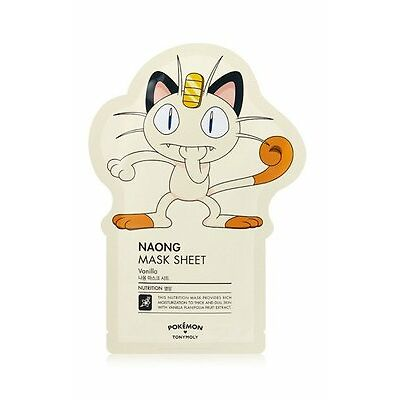 [Tony Moly] Pokemon Naong Ver. Facial Masks Sheet Pack Korean Skin Care 1 each