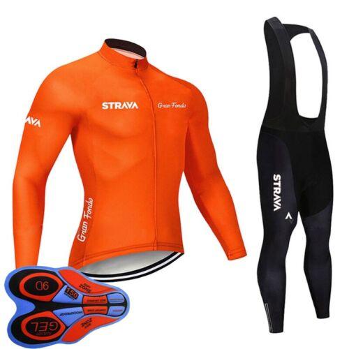 Men long sleeve bike jersey cycling shirt bib pants set 2019 New bicycle outfits