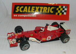 Scalextric Ferrari F1 2004 #2 Rubens Barrichello Uniquement Dans Lots Comme Neuf