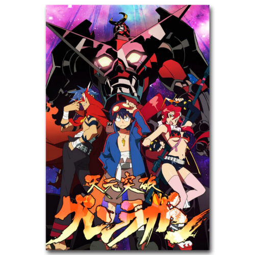 Tengen Toppa Gurren Lagann Japan Anime Art Silk Poster 13x20 24x36 inch 010