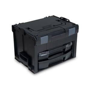 Sortimo-Systemkoffer-LS-Boxx-306-schwarz-Industrial-Line-mit-i-Boxx-72-LS-Tray