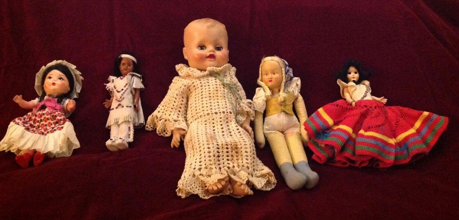 Dolls & Bears Antique (pre-1930) Zb945 Dersey Doll 22236 Poupée Souple Avec Tête Bras Jambes En Vinyle Enfant 41