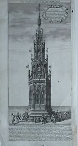 1730-ANTIQUE-PRINT-SOUTH-PROSPECT-COVENTRY-CROSS
