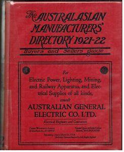 Details about Australasian Manufacturers'  Directory   1921-22   Hardcover   Rare Publication