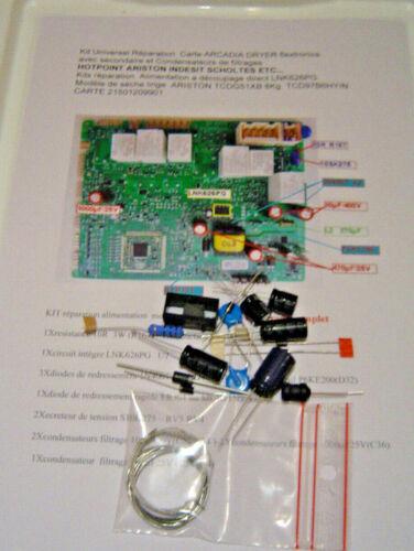 Kit  Réparation Carte LNK626PG  ARCADIA DRYER ARISTON INDESIT SCHOLTES ++