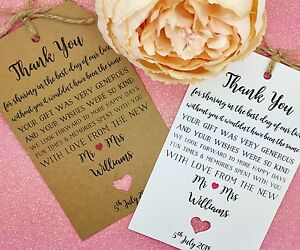 Rustic Wedding 'Thank You' Card with an Envelope, Personalised