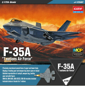 Academy-1-72-F-35A-7-nations-Air-Force-12561-HOBBY-MODEL-KITS