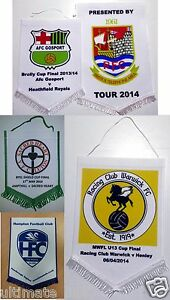 Pennant-Personalised-Design-Sport-Club-15cm-25cm-30cm-Any-Football-Printed-Fc