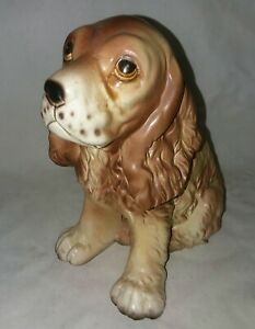 Vintage Lego Japan Cocker Spaniel Dog Head Vase 7208 Ceramic 7 In Tall Planter