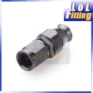 A40-001-06BK AN-6 6AN AN6 Straight Reusable Swivel Fitting Hose End Grade A Black