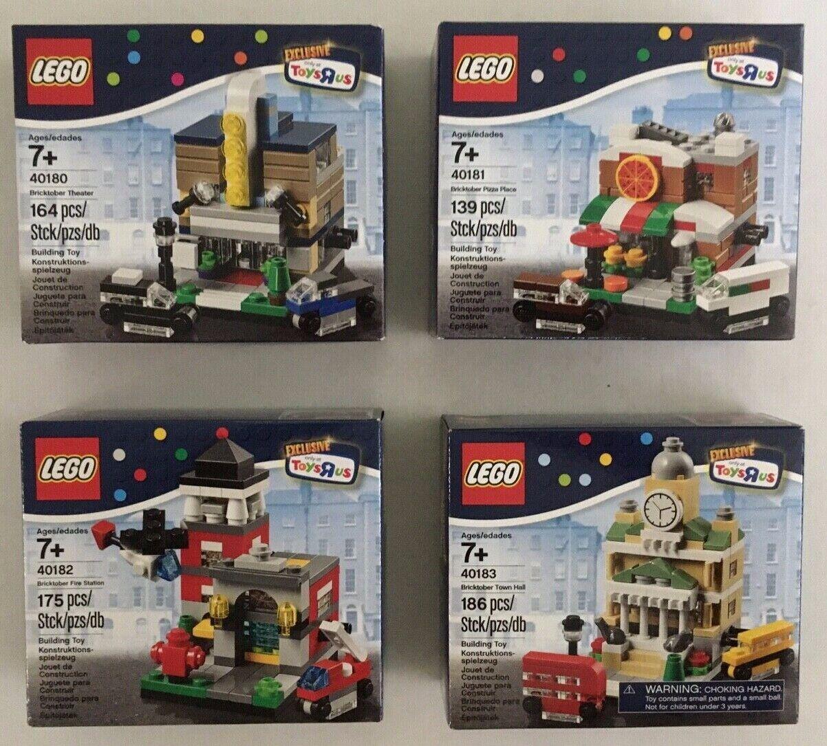BRAND NEW Lego Mini BRICKTOBER - Masse of 4 40180, 40181, 40182, 40183