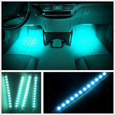 Charger 9LED Floor Decorative  Car Interior Light Ice Blue Atmosphere lamp