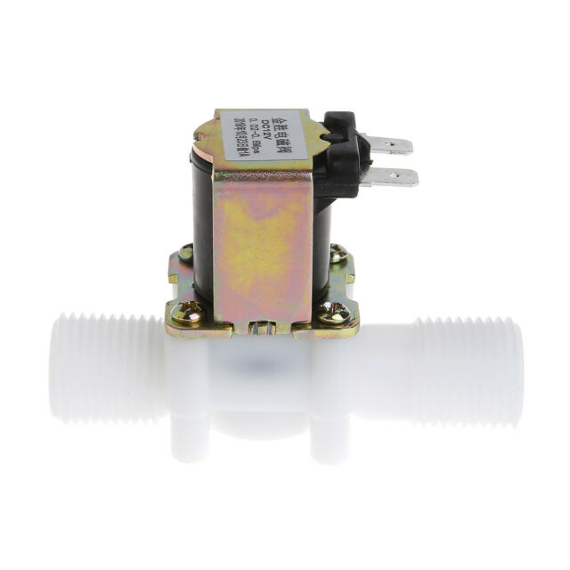 """1/2"""" New Electric Solenoid Valve 12V Magnetic DC N/C Water Air Inlet Flow Switch"""