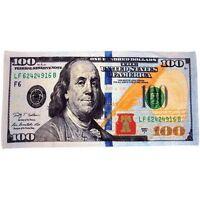 $100 Bill/hundred Dollar Bill Souvenir Gift Cotton Beach Towel 30x60