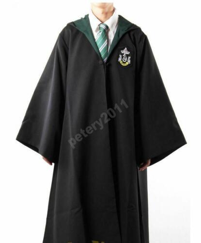 Adult Harry Potter Cosplay Robe Cloak Gryffindor Slytherin Hufflepuff Costume *