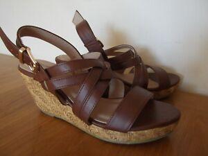 PROFILE Summer Sandals Wedges Tan Brown