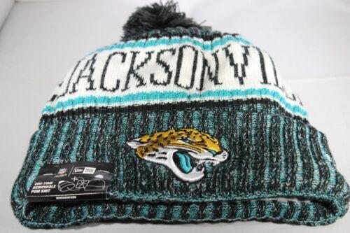 Multi Colour BNWT New Era Onfield NFL18 Jacksonville Jaguars Bobble Ski Hat