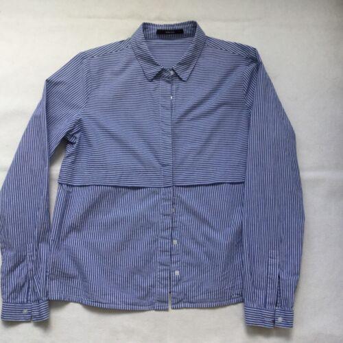 Zustand Blau 38 Bluse Weiß Damen Gestreift Gr Guter Baumwolle Someday Sehr PqfaBnx