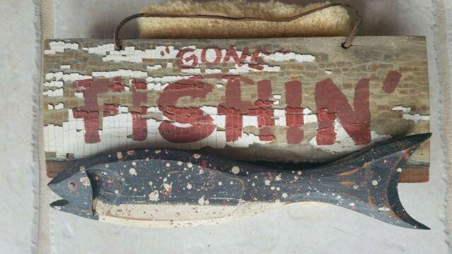 Bait Shop Fish Fishing Cabin Lake House Rustic Bait Decor Metal Sign