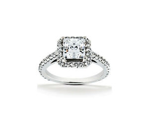 Diamante-Princesa-0-40-Quilates-y-Brillantes-Anillo-Wesselton-14K-Oro-blanco