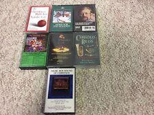 Lot 7 Christmas Cassette Tapes Mannheim Steamroller,Roger Whittaker Xmas Brass..