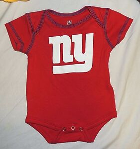 NFL NEW YORK GIANTS Football Infant//Baby One Piece//Romper//Creeper NEW