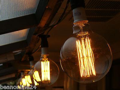 10 Piece Vintage Edison Festoon Party String Light Kit - Globes Included!
