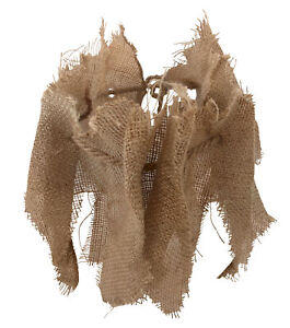 Adult Scarecrow Burlap Collar Natural Taupe Neck Piece Halloween Accessory