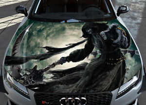 inferno death car hood wrap full color vinyl sticker decal fit any