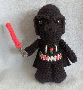 Amigurumi Doll Hands : Amigurumi Hand Crocheted Star Wars Darth Vader Doll with ...