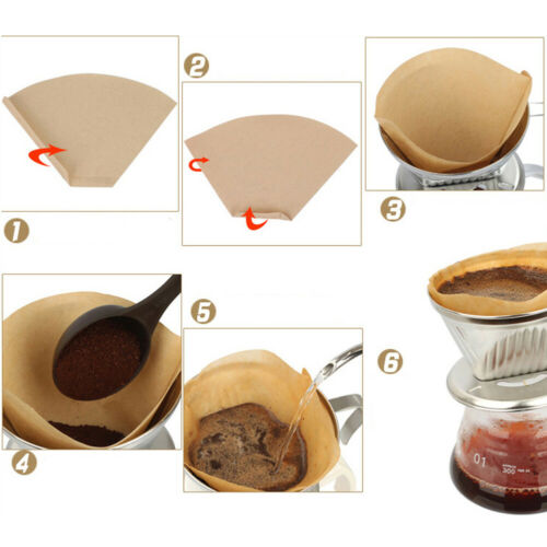 Coffee Paper Filter for 101 Coffee Hand-poured Coffee Filter Drip Cup 40pcs WT7n