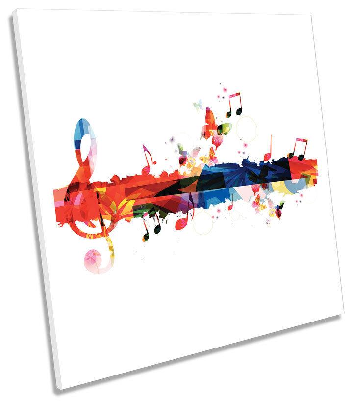 Notas Musicales Grunge Floral Cuadrado de tela tela tela parojo arte de imprimir imágenes ba4654