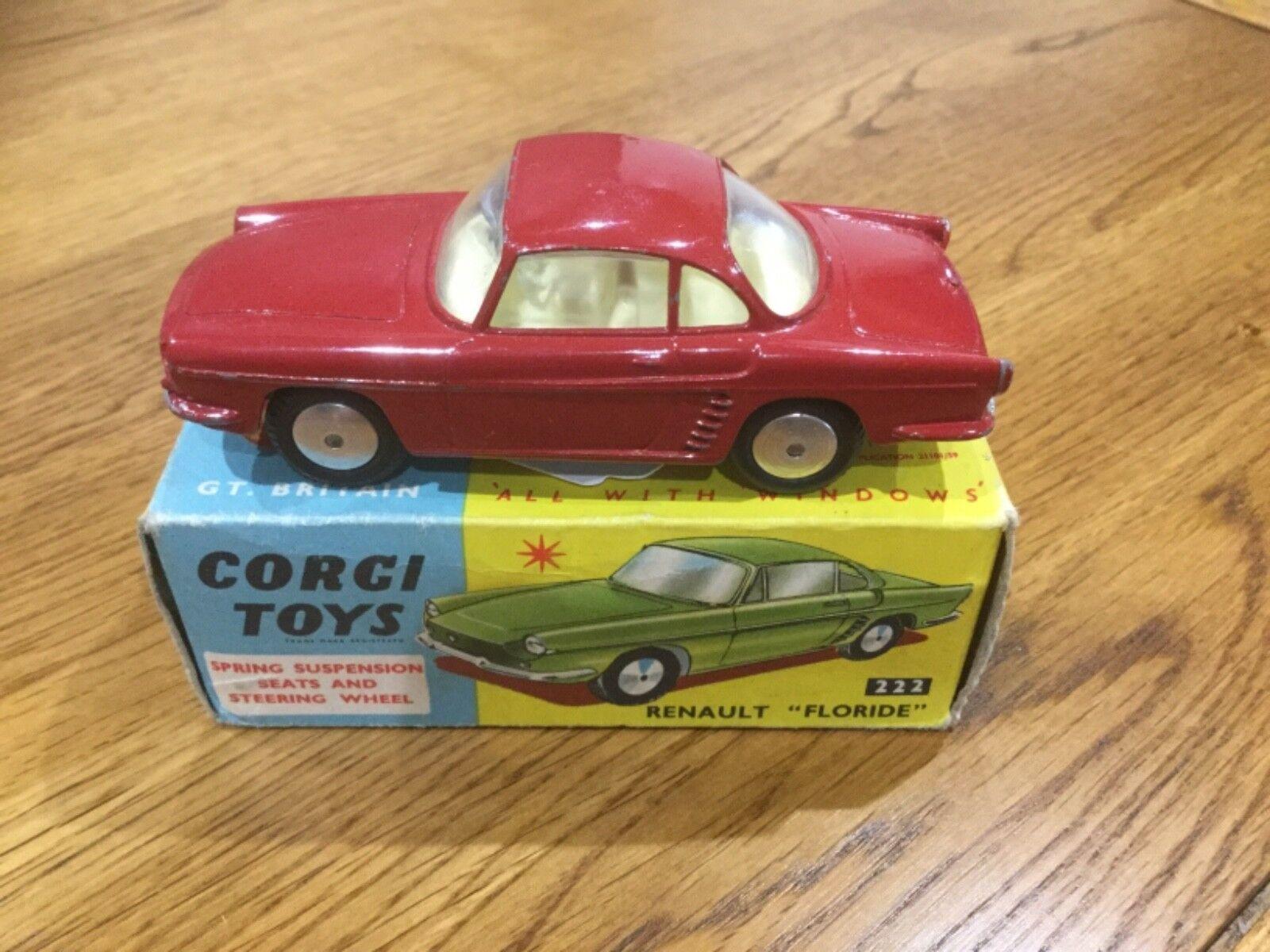 Corgi Toys 222 Renault Florida  Boxed  économiser jusqu'à 70%