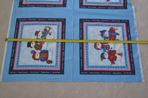 "Christmas Quilting Panel 23.5/"" x 44/"" Benartex//D/'Amore//Winter Wishes//3480 B1028"