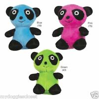 Panda Dog Toy - Green Or Blue - Squeaker 4 3/4 By Zanies