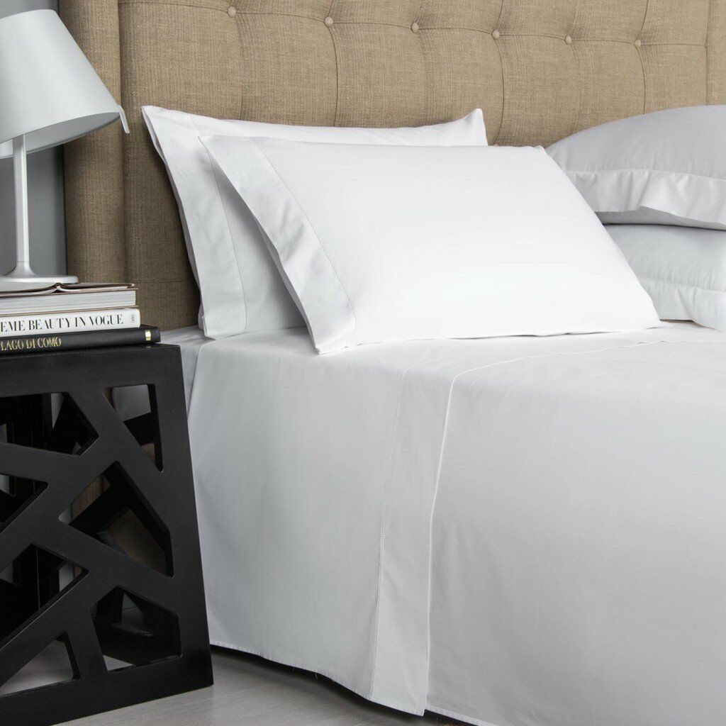Superior Quality White Bedding Items 1000 Thread Count Egyptian Cotton All Sizes