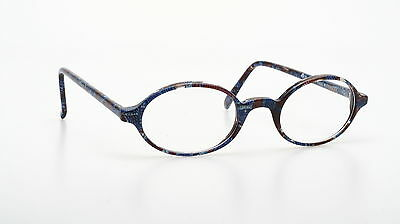 Oval acetate eyeglasses by K & B Mod. 50619 in brown and blue multicolor