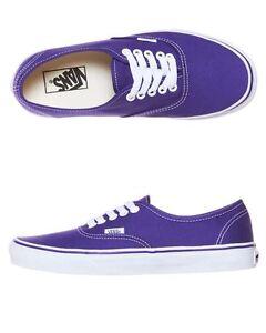 Vans-Shoes-Authentic-USA-SIZE-Purple-Iris-True-White-Skate-Board-Surf-FREE-POST